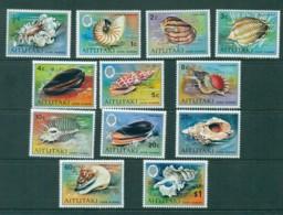 Aitutaki 1974 Shells To $1 (12) MUH/MLH Lot30970 - Aitutaki
