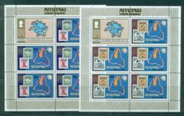 Aitutaki 1974 UPU Centenary Sheetlets + Label MUH Lot56485 - Aitutaki