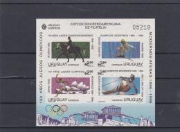 Uruguay 1996 Atlanta Olympic Games Imperforated Souvenir Sheet  MNH/**  (M6) - Sommer 1996: Atlanta