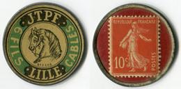 N93-0525 - Timbre-monnaie 6 Fils JTPF 10 Centimes - Kapselgeld - Encased Stamp - Monetary / Of Necessity