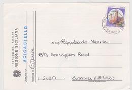 Italia 1994 Cartolina Elettorale Inviata In Australia Con Castello Di Ivrea - 6. 1946-.. Republic