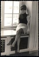 B8262 - Hübsche Junge Frau Im Rock Bluse Nylon - Mode Frisur - Pretty Young Women - Moda