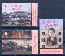 Belgium België 2018 Street Art  Brussel Namur Oostende  Gent Used 3 Stamps - Belgien