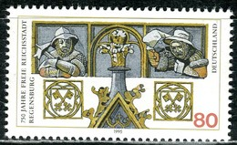 BRD - Mi 1786 - ** Postfrisch (D) - 80Pf         750 Jahre Freie Reichsstadt Regensburg - Neufs