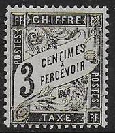 France - Taxe N° 12 *  - Cote :  90 € - 1859-1955 Mint/hinged