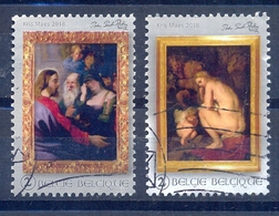 Belgium België 2018 Paintings Rubens Used 2 Stamps Waarde 2 - Belgien