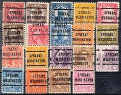 USA Precancel Vorausentwertung Preo, Locals Washington, Spokane 205, 19 Diff. Perf. 5 X 11x11, 14 X 11x10 1/2 - Vereinigte Staaten