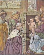 "Ajman 1969 Bf. 171A ""Adorazione Dei Magi"" Quadro Dipinto Da B. Luini  Sheet Perf. CTO Tableaux Paintings - Ajman"