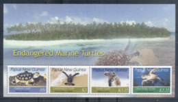 PNG 2007 Endangered Marine Turtles MS MUH - Papua New Guinea
