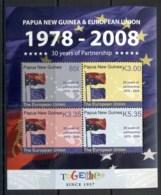 PNG 2008 European Union Partnership Sheetlet MUH - Papua New Guinea