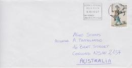 Italia 1997 Busta Per Australia Con Europa, - 6. 1946-.. Republic