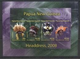 PNG 2008 Headresses Sheetlet MUH - Papua New Guinea
