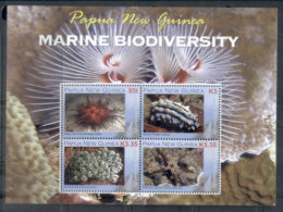 PNG 2008 Marine Life Biodiversity Sheetlet MUH - Papua New Guinea