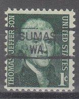 USA Precancel Vorausentwertung Preo, Locals Washington, Sumas 835,5 - Vereinigte Staaten