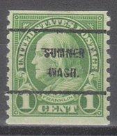 USA Precancel Vorausentwertung Preo, Bureau Washington, Sumner 597-61 - Vereinigte Staaten