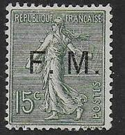 France - F.M. N°  3 * - Cote : 80 € - Franchise Militaire (timbres)