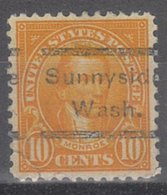 USA Precancel Vorausentwertung Preo, Locals Washington, Sunnyside 563-533, Stamp Defect - Etats-Unis