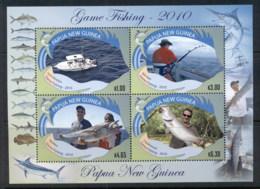 PNG 2010 Game Fishing Sheetlet MUH - Papua New Guinea