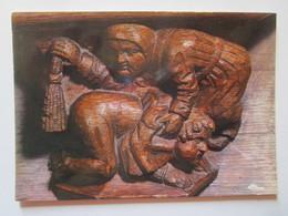 Bourg En Bresse (Ain). Brou. La Correction Maritale (Detail Original Des Stalles). CIM E 01053 256.0221 - Belle-Arti