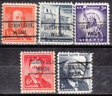 USA Precancel Vorausentwertung Preo, Locals Washington, Sunnyside 804, 5 Diff. - Vereinigte Staaten