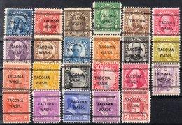 USA Precancel Vorausentwertung Preo, Locals Washington, Tacoma 243, 23 Diff. Perf. 2 X 11x11, 21 X 11x10 1/2 - Vereinigte Staaten