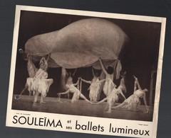 Paris  Photo Sepia SOULEIMA ET SES BALLETS LUMINEUX  (photo Nadar) (CAT 1240) - Programs