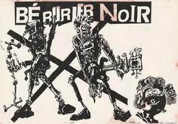 Rare Ancienne  Cp  Pop Culture Années 80 Bérurier Noir - Objets Dérivés