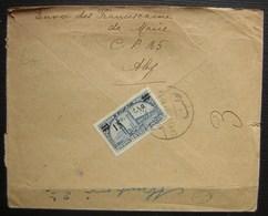 1927 Lettre Recommandée En Provenance D'Alep (Syrie), Envoi Des Franciscaines De Marie, Timbre à L'arrière Voir Photos - Marcophilie (Lettres)