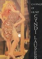 Rare Ancienne  Cp  Pop Culture Années 80  Cyndi Lauper Change Of Heart - Objets Dérivés