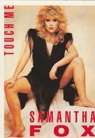Rare Ancienne  Cp  Pop Culture Années 80  Samantha Fox - Objets Dérivés