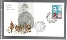 ITALIA 1961 30 Lire Ippolito Nievo Su Busta Primo Giorno Cod.bu.216 - 6. 1946-.. Repubblica