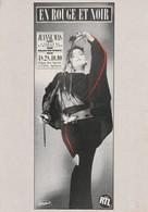 Rare Ancienne  Cp  Pop Culture Années 80  Jeanne Mas En Rouge Et Noir - Objets Dérivés