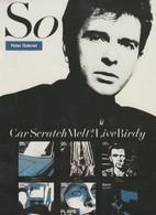 Rare Ancienne  Cp  Pop Culture Années 80 Peter Gabriel - Objets Dérivés