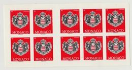 Monaco Carnet N° 18 Armoiries - Markenheftchen