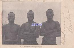 "CPA D' AFRIQUE - CONGO BRAZZAVILLE "" BONDJOS ANTHROPOPHAGES "" N° 14 - 1904 - Congo - Brazzaville"