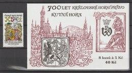 MiNr. 245 + MH 81 Tschechische Republik / 2000, 1. März. 700 Jahre Königliches Bergbaurecht. - Tschechische Republik