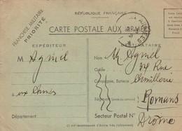 Militaria : Carte Postale Aux Armées : Franchise Militaire Priorité ( Correspondance ) - Guerra 1939-45