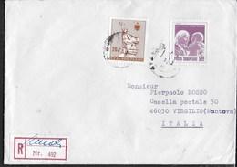 STORIA POSTALE - RACCOMANDATA DA SHKODRA 1992 PER VIRGILIO (MN) - Albania