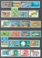GHANA - 1966 - MNH/** - YEAR 1966 - Yv BLOC 19-20 22-23 229-257 - Lot 17899 - Ghana (1957-...)