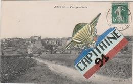 CPA AZILLE AUDE VUE GENERALE - Francia