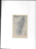 ILE DE MADAGASCAR CARTE GEOGRAPHIQUE - Mapas