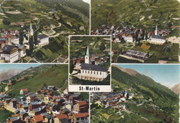 ST-MARTIN - MULTIVUE COULEUR - 1959 - TROU DE PUNAISE ! - VS Valais