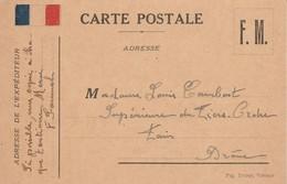 Militaria : Carte Postale : Franchise Miltaire ( Correspondance ) - Guerra 1939-45