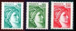 France 1977 Yvert 1967a - 1970a - 1972a ** TB - France