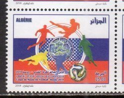 ALGERIA, 2018, MNH, SOCCER, FOOTBALL, RUSSIA WORLD CUP,1v - 2018 – Russia