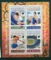 Samoa 1988 Seoul Olympics MS MUH Lot54879 - Samoa
