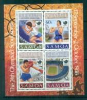 Samoa 1988 Seoul Olympics MS MUH Lot81725 - Samoa