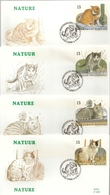 BELG.1993 2521 2522 2523 & 2524 FDC's : Nature - Chats Européens / Natuur - Europese Katten - FDC