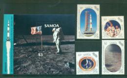Samoa 1989 Moon Landing 20th Anniv + MS MUH Lot54685 - Samoa