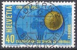 Schweiz Suisse 1954: Fussball-WM 1954: Zu 319 Mi 596 Yv 547 Mit Voll-o LUZERN 19.XI.54 (Zu CHF 6.00 ++) - 1954 – Schweiz